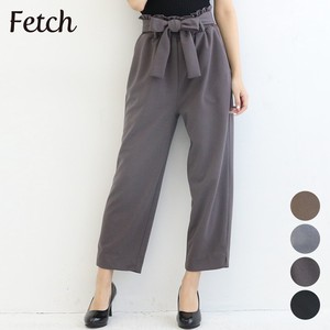 Waist Ribbon Attached Cropped Tapered Pants