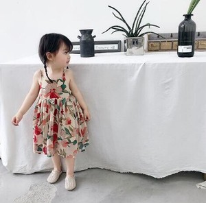 Korea Fashion Korea Children's Clothing One-piece Dress S/S Children's Clothing Skirt Top