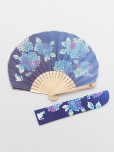 [ 2020NewItem ] Design Hydrangea Folding Fan Bag Attached
