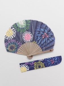 [ 2020NewItem ] Design Japanese summer features Firework Folding Fan Bag Attached