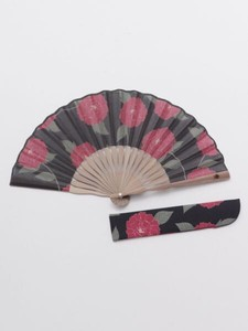[ 2020NewItem ] Design Peony Folding Fan Bag Attached