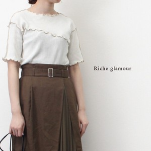 Wide rib Knit Tops /Women's Fashion
