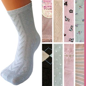Silk Crew Socks Socks Argyle Cat Flower [ 2020NewItem ]