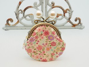 Feeling Coin Purse Pouch Coin Case Base Floral Pattern Pink