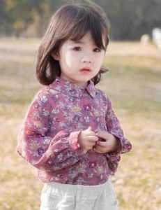 Korea Fashion Korea Children's Clothing S/S Children's Clothing Top Shirt