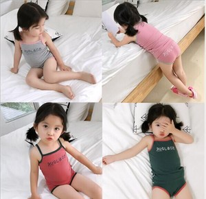 Korea Fashion Korea Children's Clothing One-piece Dress S/S Children's Clothing Suit Set