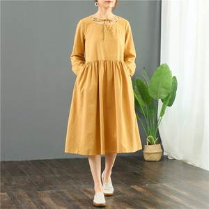 Long Sleeve One-piece Dress