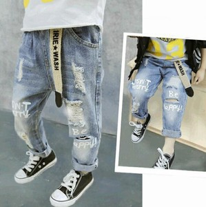 Korea Fashion Korea Children's Clothing Denim Pants S/S Children's Clothing