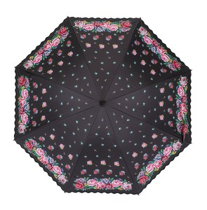 LakeAlster All Weather Umbrella Embroidery Print Short S/S Sunshade Umbrella