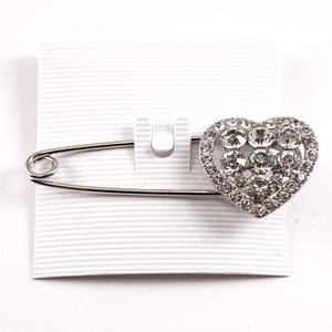 Quilt pin Heart Crystal Glitter Safety Pin Brooch Stole pin Gift