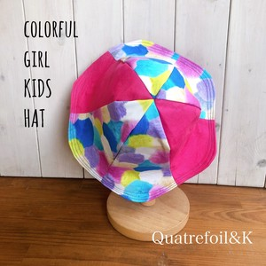 Reversible Kids Hat Attached Hand Maid pink