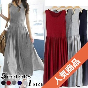 Popular Ladies Plain Long Dress