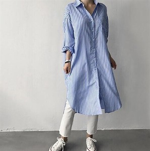 Shirt Long One-piece Dress