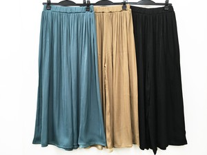 Pleats Processing wide pants