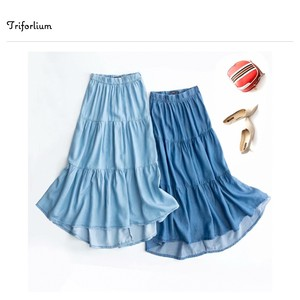 [ 2020NewItem ] 2 Colors Dhangarhi Material Switch Skirt