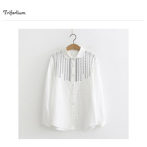 [ 2020NewItem ] Material Embroidery Blouse