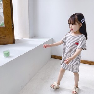 Children's Clothing Border One-piece Dress Kids Casual Korea