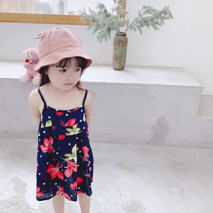 Children's Clothing Floral Pattern One-piece Dress Kids Casual Korea