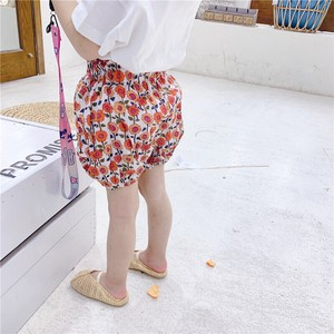 Children's Clothing Floral Pattern Pants Kids Casual Korea