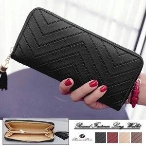 Long Wallet Ladies Round Fastener Coin Purse Long Wallet Large capacity