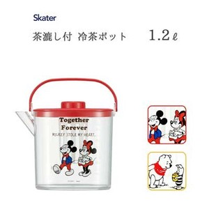 Cold Water Iced Tea Pot Tea Strainer Attached SKATER Disney Mick Winnie-the-Pooh