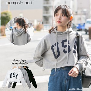 [ 2020NewItem ] Korea Cotton Fleece Front Print Short Hoody