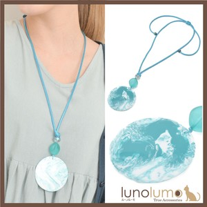 Necklace Pendant Ladies Marble Marble Light Blue Blue Metal