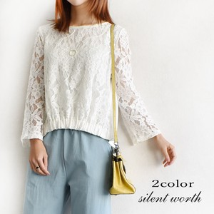 [ 2020NewItem ] Floral Pattern Lace Switching Shearing Pullover
