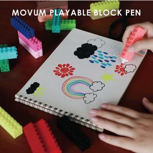 ブロック仕様の20色カラーペン!【MOVUM PLAYABLE BLOCK PEN】プレイア ブルブロック ペン