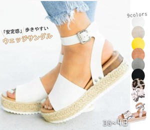 [ 2020NewItem ] Ladies Flat Shoes Wedged Heel Wedged Sandal 8 Colors