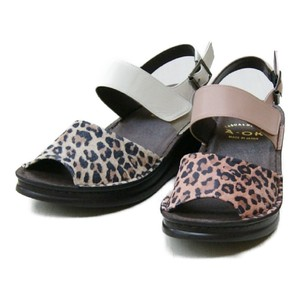 Our Company Original Material Leopard Thick-soled Sandal