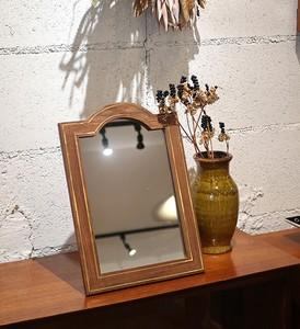 SC Wood Brass Mirror