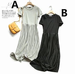 Connection Matching Short Sleeve One-piece Dress S/S