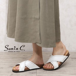 Studs Leather Foot Sandal Sandal