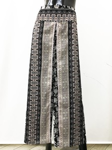 Ethnic Wrap wide pants