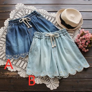 Embroidery Denim Skirt Pants Shorts