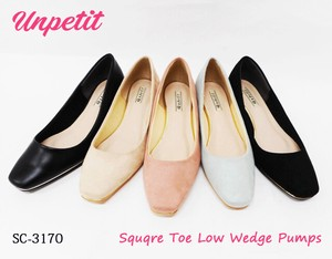 Square Wedged Pumps Gold pin SC