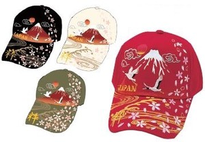 Japanese Pattern Embroidery Cap Mt. Fuji