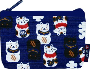 Weather Japanese Pattern Beckoning cat Card Case