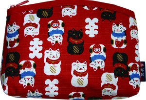 Weather Japanese Pattern Beckoning cat Ki Pouch