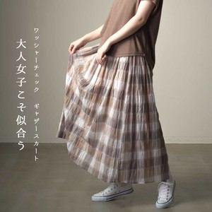 Washer Checkered Gather Skirt [ 2020NewItem ]