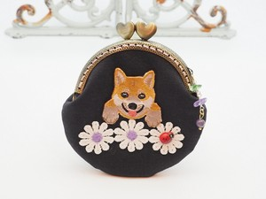 Feeling Coin Purse Pouch Coin Case Base Shiba Dog