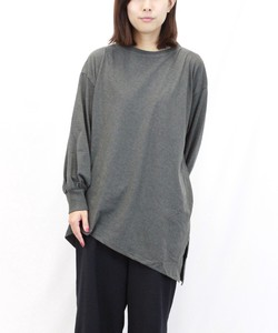 Random Silhouette Long Cut And Sewn Long Sleeve Cotton Cut And Sewn Top