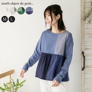 T-shirt Cut And Sewn Ladies Pullover Petit Patchwork Switching T-shirt