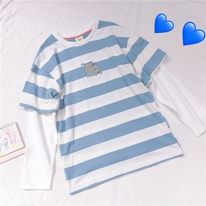 Retro Embroidery Stripe Long Sleeve T-shirt