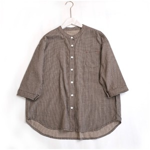 Ladies Cotton Houndstooth Shirt