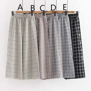Checkered Pants Ladies Middle