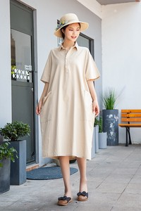 Leisurely Half Length Long Dress 3 Colors