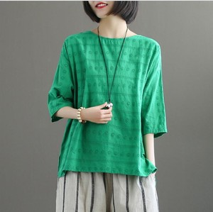 Half Length Flashy Open Embroidery T-shirt Ladies 7 Colors