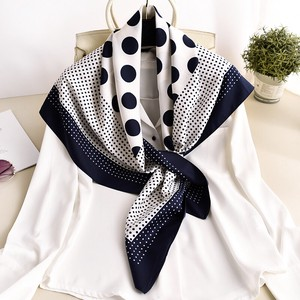 Large Format Square Silk Stole Scarf Dot Dot
